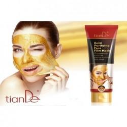 Valanti auksinė kaukė-plėvelė veidui