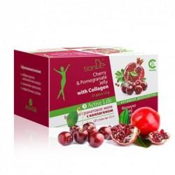 Tiande gelis su vyšnių-granatų sultimis ir kolagenu